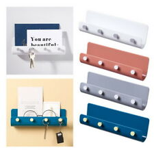 Key Rack Holder Wall Mount Key Organizer 4 Hooks Keychain Hanger Home Storage