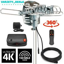 Amplified TV Antenna Digital Indoor Outdoor 150-200 Mile Signal Booster HD 1080p