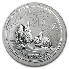 2011 Australia 10 oz Silver Year of the Rabbit BU - SKU #59012