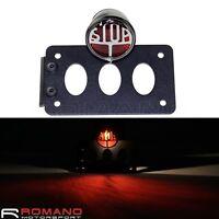 Motorcycle Brake Stop Taillight Side Mount Black Number License Plate Bracket