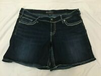 (*-*) SILVER * Womens Stretch SUKI SHORT Blue Jean / Denim Shorts *  Size 18