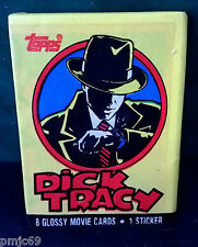 TOPPS ~ DICK TRACY ~ DISNEY ~ 8 GLOSSY MOVIE TRADING CARDS 1 STICKER ~ WAX PACK
