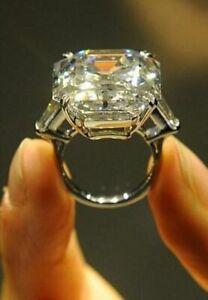 35 Ct Elizabeth Taylor Engagement Ring inspired 925 Sterling Silver Asscher Cut