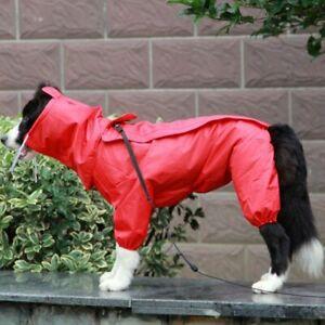 Doggy Raincoat Waterproof Care Retriever Labrador Coat Jacket Big Dogs Jumpsuit
