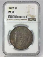 1882 S Morgan Silver Dollar NGC MS 63