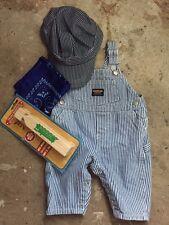 TRAIN conductor ENGINEER railroad HALLOWEEN costume w/PROPS bandana whistle cap