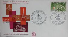 ENVELOPPE PREMIER JOUR - 9 x 16,5 cm - 1969 - ECOLE ARTS MANUFACTURES - N° 695