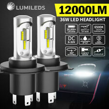 Pair H4 9003 36W 12000LM LED Headlight kit Lamp Bulbs Globes Hi-Lo Beam Upgrade