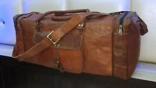 Designer Bag Leather Duffle Travel Men Gym Luggage Genuine Overnight Vintage
