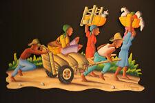 Peinture Sur Masonite haïtien artiste Hugues ROUANEZ HAITIAN ART Haïti