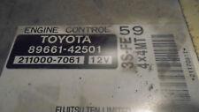 1999-00 Toyota Rav4 4x4 2.0 m/t ecu engine computer ecm 89661-42501