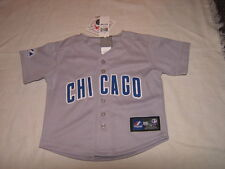 MLB Chicago Cubs Grey Road Kids Baseball Majestic Jersey Sz 24M NWT