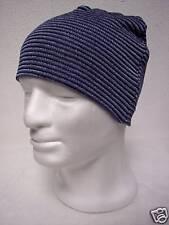 Cappello Doppio Righine BLU-AZZURRO 100% Lana Merinos