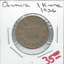 From Show Inv. - A NICE OLDER KEY DATE 1 KRONE COIN from DENMARK DATING 1926