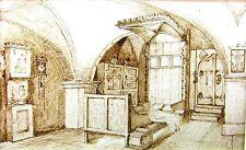INTERIORS GERMAN SALZBURG GOTHIC  ROOM C.M.LLOYD INK 1889