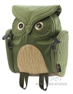Owl SMALL OLIVE 3D backpack MORN CREATIONS bag kid INFANT legend *Not for Adult*