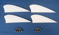 kitesurfing kiteboarding 4 pcs 1.75 inch fins for kiteboard kite board surfing..
