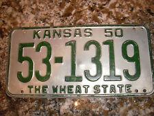 1950 KANSAS LICENSE PLATE 53 1319