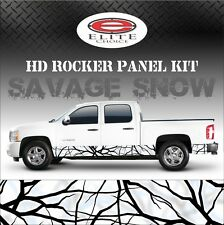 "Savage Snow Camo Rocker Panel Graphic Decal Wrap Truck SUV - 12"" x 24FT"