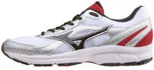 Mizuno Crusader Running Shoes Mens 12 White Black Low Lace Trainers