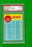 1963 TOPPS BASEBALL #509 CHECKLIST 507-576 PSA 4 VG-EX UNMARKED