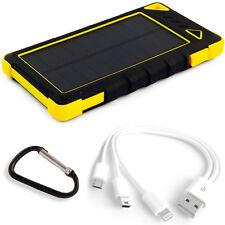 Solar Ladegerät Power Bank 29600mWh Solarpaneel 1W Li-Po USB 2A&1A LED PowerNeed