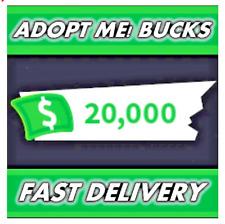 20000 Adopt Me Bucks/Dollars/Cash FAST DELIVERY *READ Description*
