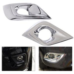 Chrome Front Fog Light Lamp Cover Trim Molding Fit For Nissan Murano 2015-17 Li