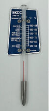 New listing Vintage 80s Ekco Meat Thermometer Blue Aluminum & Glass Beef Roasts Pork Poultry