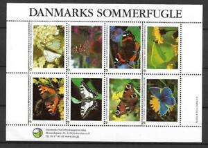 Denmark - Cinderellas - Butterflies - Full Sheet - VF MNH ** !!!!!  (A2679)