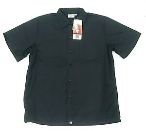 Chef Works Cook Shirt Mens Various Sizes Cool Vent CSCV Short Sleeve Button Blk