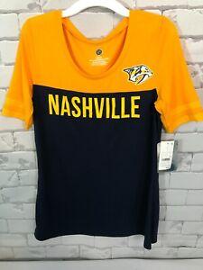 Girls Nashville Predators  Short Sleeve T-shirt  - Yellow Black / Small Child