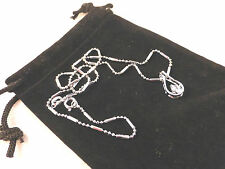 Cristalli austriaci 18K Bianco Oro Placcato Classic A goccia chiara cristallo collana