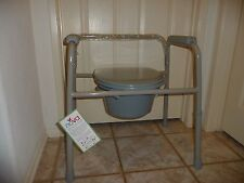 Adult Potty Chair Cover Toilet Seat  3 in 1 Bedside Commode w/ Back  8450 (Gray)