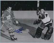 Autographed Dave Keon Maple Leafs Photo Terry Sawchuk