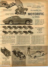 1964 ADVERT Ideal Toy Play Jaguar XKE Corvette Stig Ray Mattel V rroom Race Car