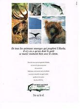 PUBLICITE ADVERTISING 094  1991  SAUMON SAUVAGE D'ALASKA  2
