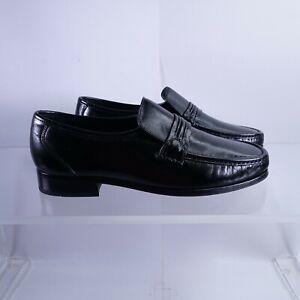 Size 9 WIDE 3E Men's Florsheim Como Slip-On Loafers 17089-01 Black
