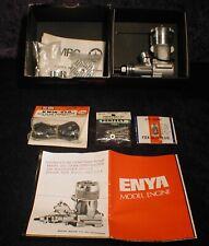 MRC Enya .29 IVB Engine with Fox Glo Plug Connector & Bolt Set NIB New Old Stock