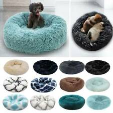 Donut Plush Pet Dog Cat Bed Fluffy Calming Warm Soft Nest Kennel Sleeping Bed L