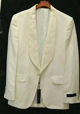 NWT-New_JOSEPH ABBOUD Collection_Silk & Linen Shawl Collar Ivory Dinner Jckt_39L