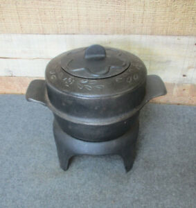 Cast Iron Steamer Pot with Lid and Stand