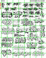 W004 WHITE INK DAVE'S DECALS MODERN URBAN GRAFFITI TAGGING LINE ART ASSORTED