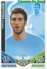 110 GONZALO HIGUAIN ARGENTINA TEAM CARD ESTRELLAS MONDIALES 2010 TOPPS