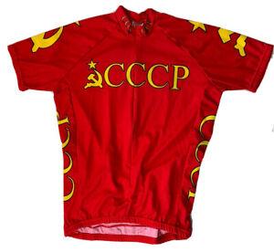 CCCP Russia Soviet Union Olympic Cycling Jersey World Jerseys Men's