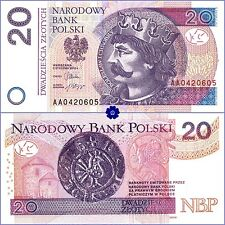 POLAND 20 ZLOTYCH 05.01.2012(2014) P-184a *AA* UNC Banknote