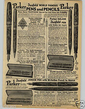1941 PAPER AD Parker Duofold Fountain Pen Major Pencil Sets Underwood Typewriter