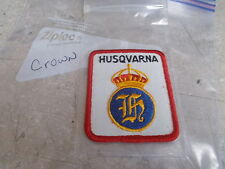 NOS Husqvarna Motorcycle Patch Crown White Gold & Blue Red Trim