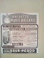 PUBLICITE ANCIENNE - PUB ADVERT 1920 illustration - MARIE BRIZARD - BRUN PEROD