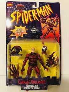 Carnage Unleashed Spiderman The Animated Series Action Figure(Toybiz 1995) NIP!